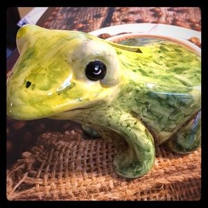 Froggy Bank Hand painted from Italy